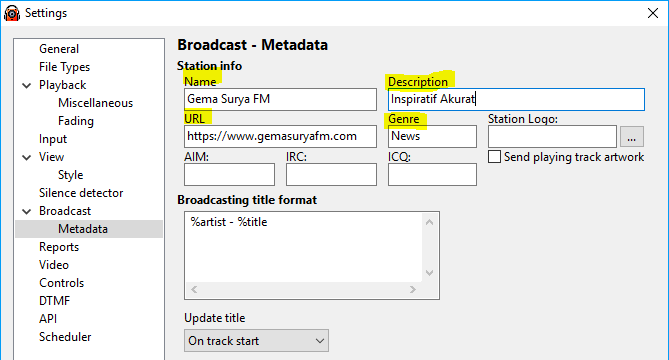 Pengaturan Icecast RadioBOSS Live Streaming - Broadcastindo
