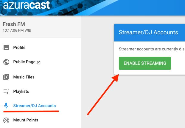 Siaran Live dengan Web DJ