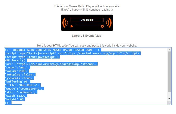 Memasang Muses Radio Player di Web