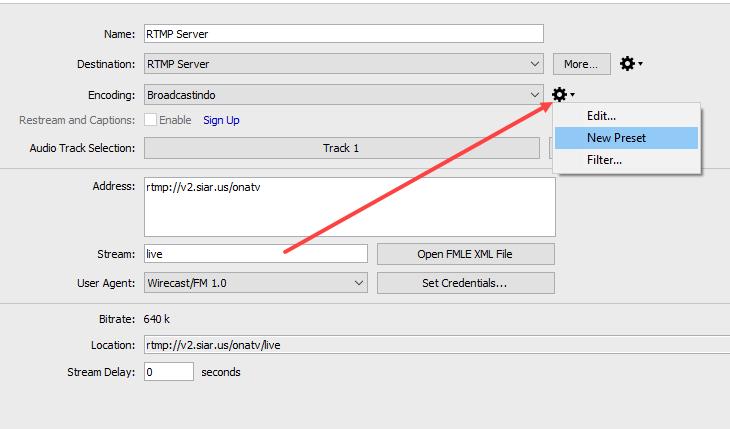 Cara Setup RTMP Server Wirecast