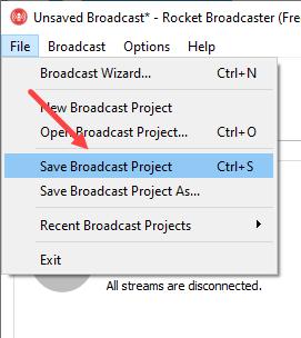 Siaran Live Azuracast dengan Rocket Broadcaster