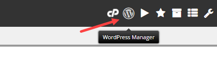 wordpress manager icon cpanel